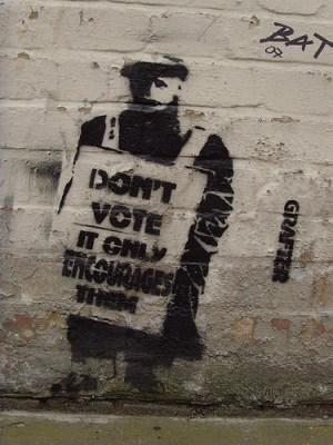 Don't Vote Graffiti