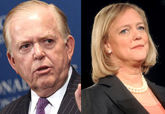 Lou Dobbs and Meg Whitman