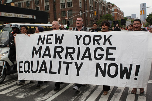 A march for marriage equality in New York - Photo: Towleroad