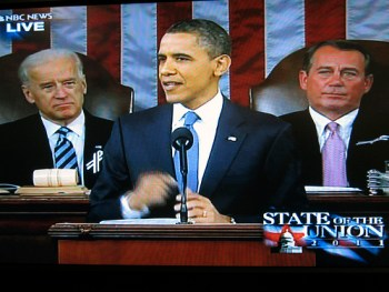 President Obama delivering his 2011 State of the Union address - Photo: Robert Couse-Baker