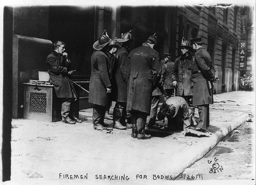 Firemen at the Triangle Shirtwaist Factory Fire (Photo: Library of Congress)