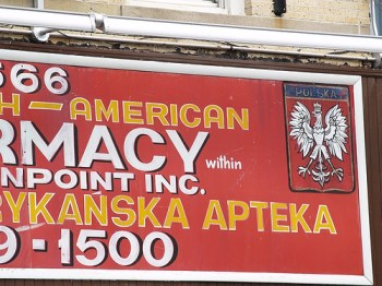 A Polish pharmacy in Greenpoint, Brooklyn
