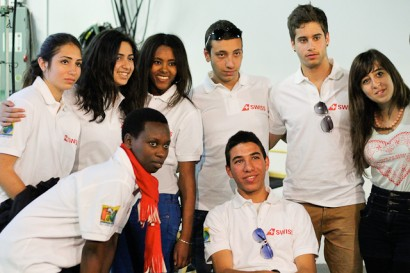A group of young international filmmakers