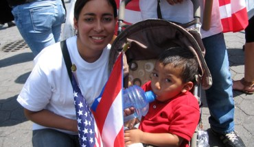 Cynthia Otero With Her Son Christian at New York Immigration Reform Rally - Photo: Cristina DC Pastor