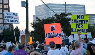 A 2007 anti-immigration rally in Georgia
