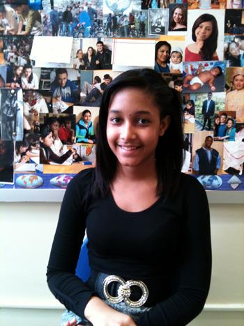 Winnie Morales, 15, a student at Manhattan International High School