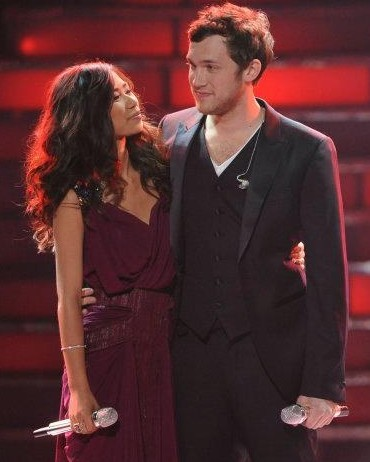 Jessica Sanchez and Philip Phillips