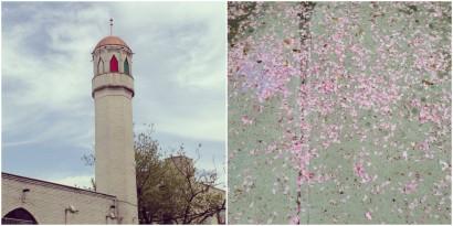 The Al-Farooq Mosque in the Boerum Hill neighborhood of Brooklyn and surrounding sidewalk. (Photo: Ateqah Khaki)