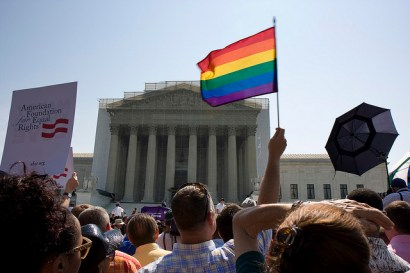 DOMA rally in front of the U.S. Supreme Court on June 26, 2013. (Photo: Flickr/Photo Phiend)