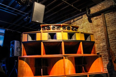 DJ Quoc Pham's tower of sound. (Photo: Marcela Gara)