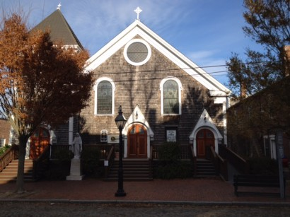 About 200 people, mostly immigrants, show up every Sunday night at St. Mary, Our Lady of The Isle Catholic Church on Nantucket. The church has seen such an increase that the Catholic Diocese of Fall River sent a Spanish-speaking priest for the community. Photo by Fr. Marcel Bouchard