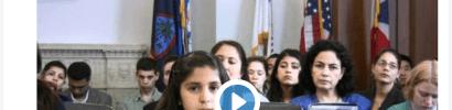 Katherina speaking Two Americans