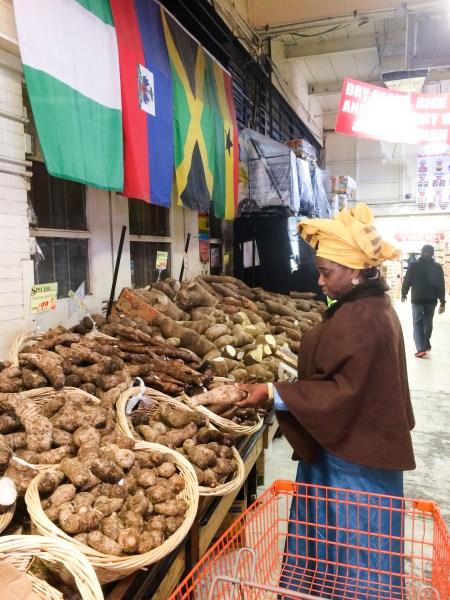 Olufunke Obadina at the market