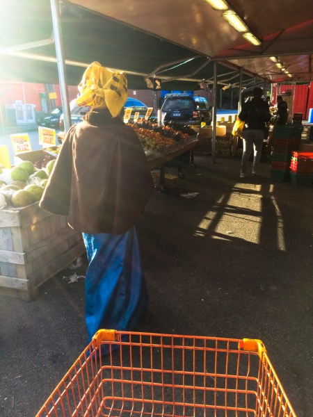 Olufunke Obadina at the market.