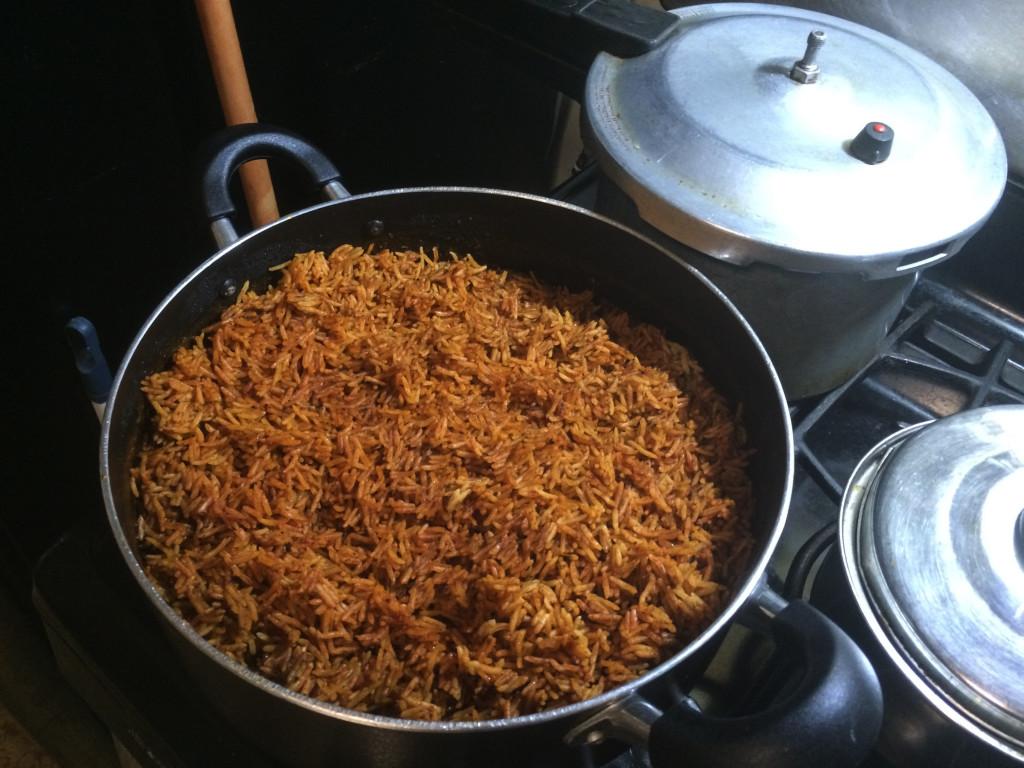Jollof rice, a Nigerian rice dish