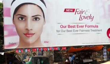 """Billboard for """"Fair and Lovely"""" Skin-Whitening Cream in Chittagong, Bangladesh"""