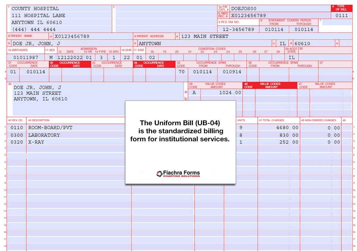 Ub 04 Billing Package