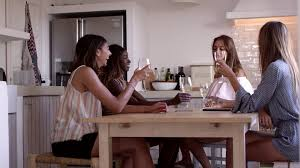 4 women drink