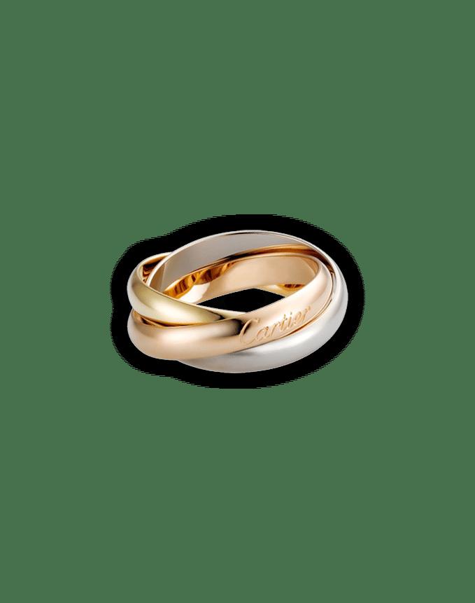 Anillo Cartier de bronce y plata