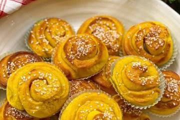 Saffransbullar med vanilj