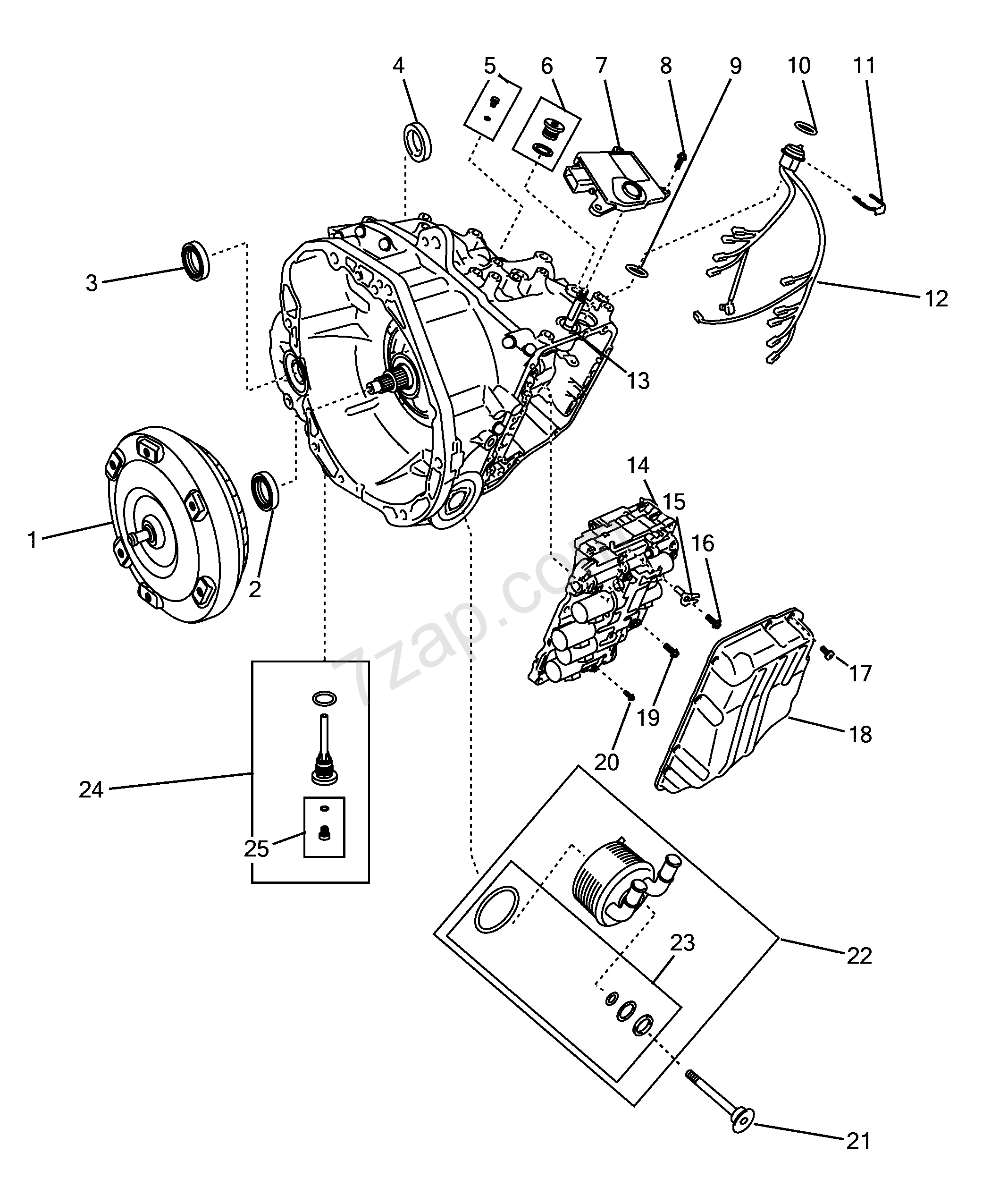 Automatic Transmission Parts Fiat 500 Usa