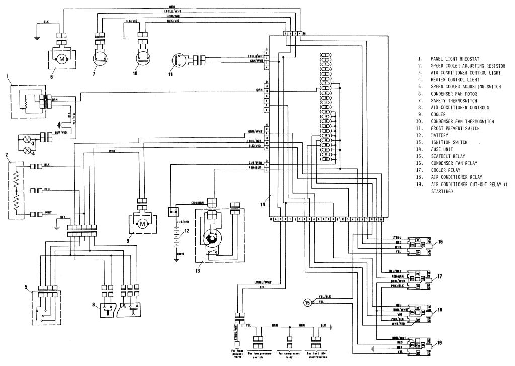 Fiat X1 9 Wiring Diagram