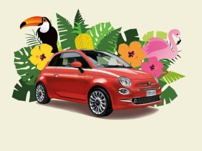 Fiat500 Tropicale トロピカーレ|フィアット夏の限定車はイタリアン珊瑚なコーラルレッド♪