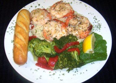 Shrimp Scampi Dinner-Fibbers