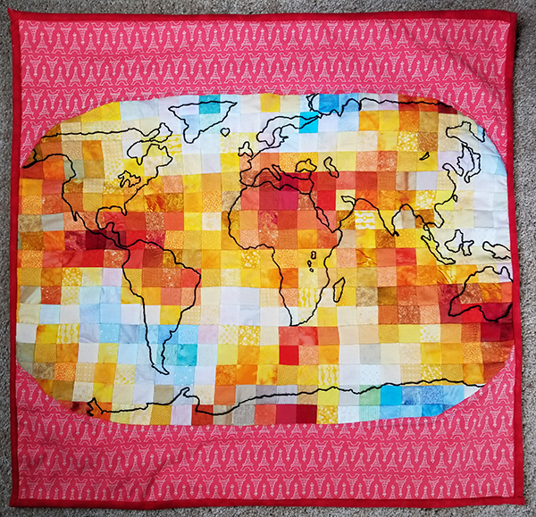 """Climate Change Quilt"" by Patti Pattison"