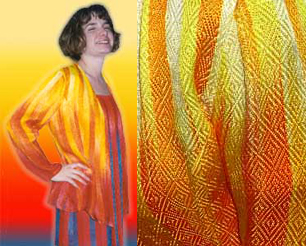 "Renne Emiko Brock's hand dyed hand woven ""fire suit"""