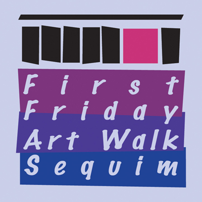First Friday Art Walk Sequim logo with one open door on the 1st Friday.