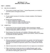 fiberglass gutter specification