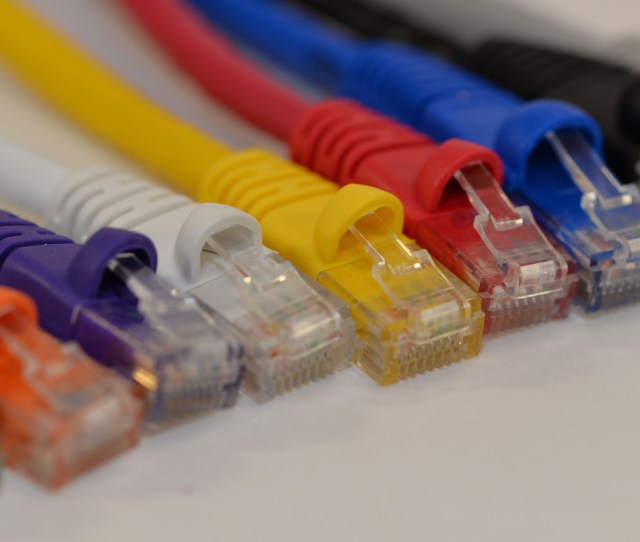 Cat 5e Network Copper Cable With Snagless Boot Multiple Sizes And Colors To Choose From