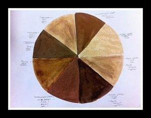 brown color wheel
