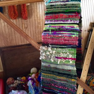 Cloth waiting to be sewn into a garment