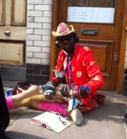 one of the many colourful characters around