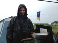 the one rainy day and one unhappy camp chef!