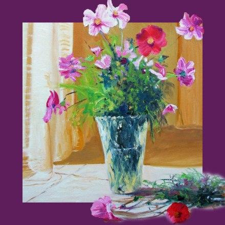 Bouquet de Cosmos (d'après un tableau de Pier Buyle)