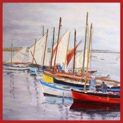 Vieux gréments (d'après un tableau de Pier Buyle)