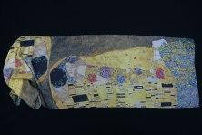 foulard de soie Klimt le baiser impression haute définition