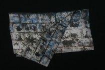 Fibra Creativa écharpe en soie homme gris-bleu lichen