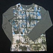 T-shirt homme imprimé manches unies