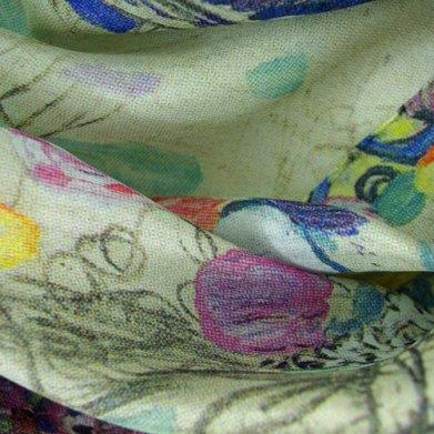 Klimt portrait of ria munk silk detail