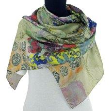 Klimt portrait de Ria Munk foulard de soie