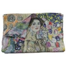 Klimt retrato de Ria Munk fular de seda
