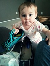 Is it time to go, Nora? Thanks for bringing me my shoes!