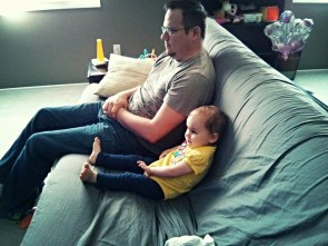 Chillin' with Daddy.