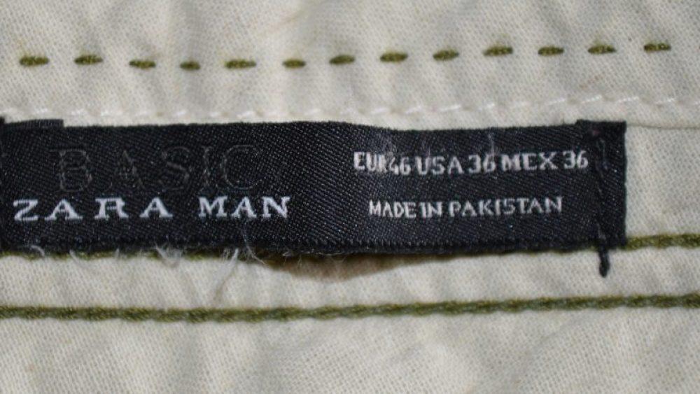 Zara Men étiquette