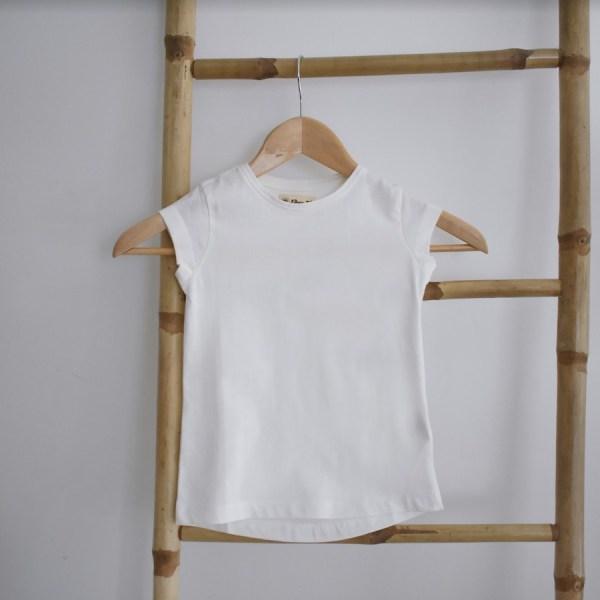 Tshirt fille manches courtes blanc