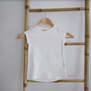 Tshirt fille manches courtes blanc